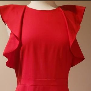 J. Crew Red Dress- good for work/office/party!